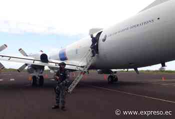 Avión estadounidense Orion P3 aterrizó en la isla San Cristóbal de Galápagos - expreso.ec