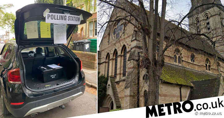 Polling station set up in car boot 'because church warden overslept'