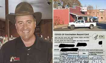 California bar owner is arrested for selling 'undercover agents' fake COVID-19 vaccine cards for $20