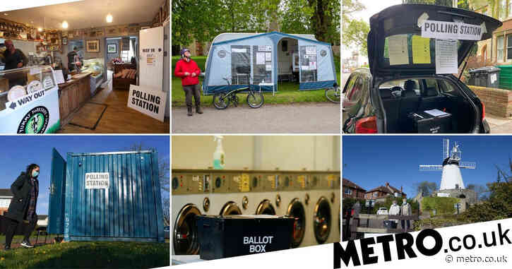 A launderette, windmill and car boot – the UK's most unusual polling stations
