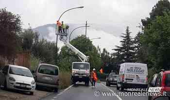 Circonvallazione, cominciati i lavori per il ripristino dell'illuminazione - Monreale News