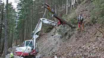 Einen Hang zur Sicherung: So laufen die Bauarbeiten am Blomberg - Merkur Online