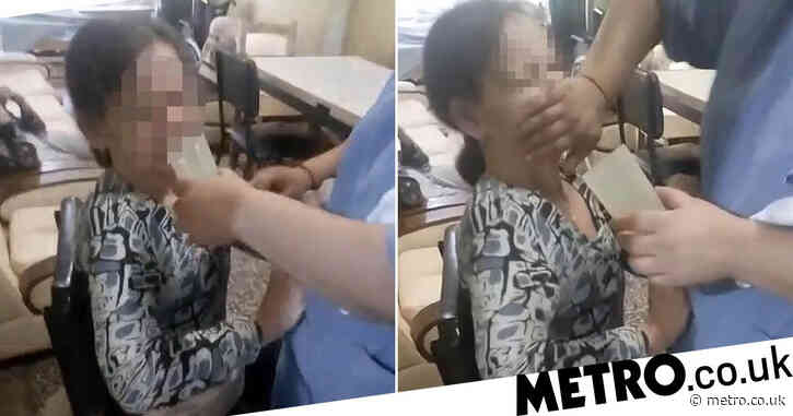 Elderly woman strapped down and force fed pills in shocking care home video