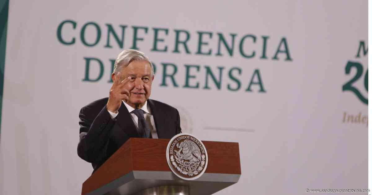 Lóprez Obrador prevé que 'pronto' haya acuerdo para reabrir frontera - San Diego Union-Tribune en Español
