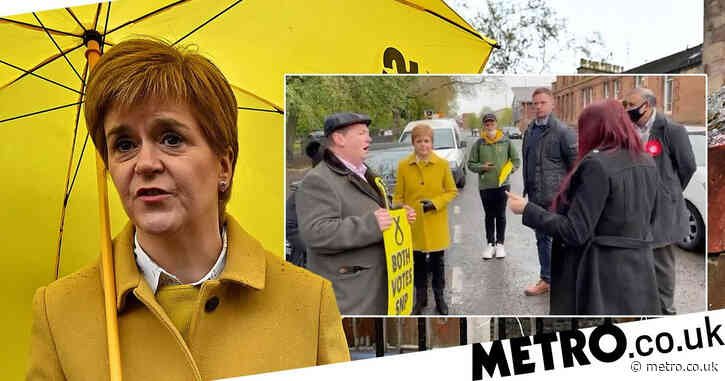 Sturgeon calls ex-Britain First deputy 'racist' in confrontation at polling station