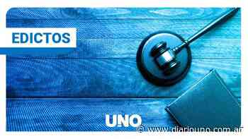 Edicto: Autos 253.925 Martinez - Diario Uno