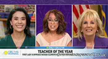 Jill Biden surprises teacher of the year during TV interview