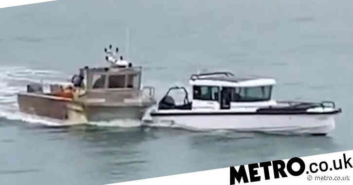 French trawler and British vessel collide amid Jersey fishing stand-off