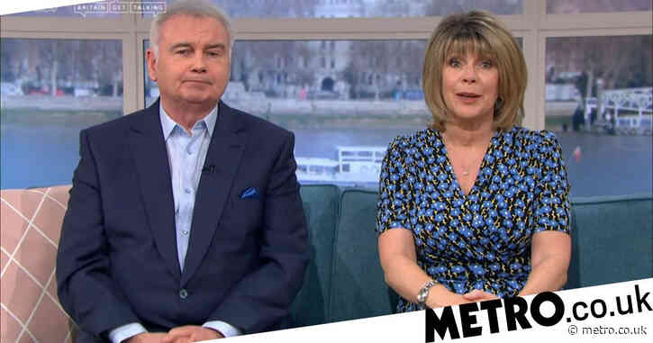 Eamonn Holmes excitedly rubs cream on inflatable Ruth Langsford doll in solo Celebrity Juice stint