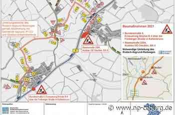 B 4 teilweise gesperrt - Itzgrund-Radweg für Autofahrer - Neue Presse Coburg
