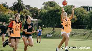West Coast AFLW player Hayley Bullas launches HB Female Football Development program - The West Australian