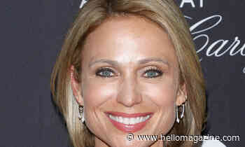 Amy Robach looks stunning in incredible black silk skirt