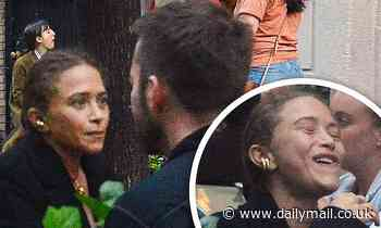 Mary-Kate Olsen, 34, enjoys a beer with a pal three months after contentious divorce