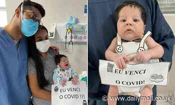 Baby infected with COVID-19 just eight days after he was born is released from Brazilian hospital