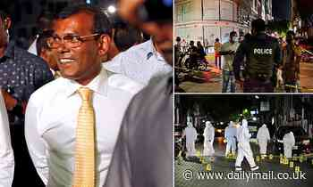 Ex-President of the Maldives is injured in bomb blast as he leaves his home