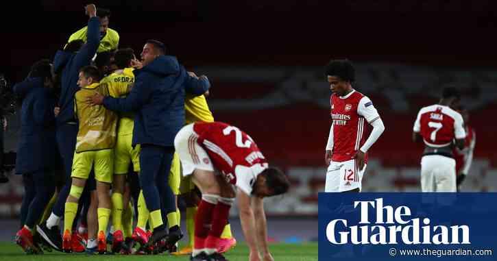 Arsenal's Aubameyang hits post twice as Villarreal reach Europa League final