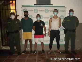 Capturan a tres por daños a bien ajeno en Sabanagrande - Diario La Libertad