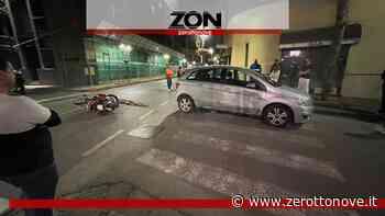 Baronissi, scontro tra auto e ciclomotore in pieno centro - Zerottonove.it