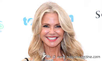 Christie Brinkley looks gorgeous in green as she shares important message