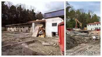 Die Bagger sind da: Das alte Tierheim in Kolbermoor/Rosenheim ist Geschichte - mangfall24.de