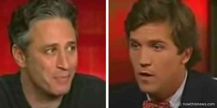 A 2004 Clip Of Jon Stewart Roasting Tucker Carlson To His Face Has Gone Viral - NowThis
