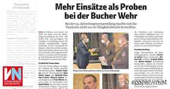 Mehr Einsätze als Proben bei der Bucher Wehr - Vorarlberger Nachrichten | VN.AT