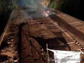 Queman puente en Alto Verá y dejan esquela - ÚltimaHora.com