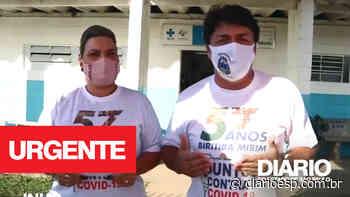 Biritiba Mirim - Chegam mais vacinas, prefeito Inho e vice prefeita Adriana Rufo comentam a conquista - Diário do Estado de S. Paulo