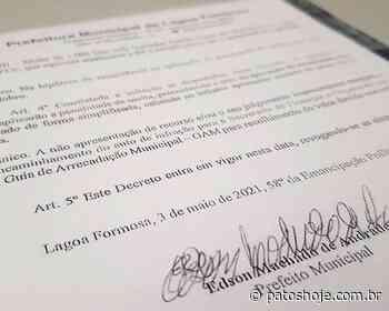 Após excessos do fim de semana, prefeito de Lagoa Formosa publica decreto com proibições - Patos Hoje - Notícias de Patos de Minas