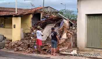 Chuva provoca desabamento de prédio em Apodi, no Oeste potiguar - G1
