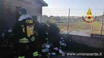Sestu, incendio all'esterno di un casolare - L'Unione Sarda.it - L'Unione Sarda