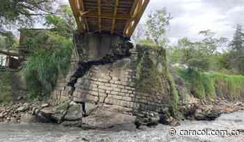 Emergencia invernal dejó sin puente vehicular al municipio de Guayatá - Caracol Radio