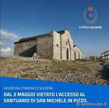 Solofra, dal 3 Maggio vietato l'accesso al Santuario - avellino.zon.it