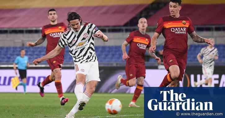 Edinson Cavani sends Manchester United into final despite Roma scare