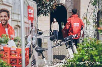 Pilotprojekt: Rewe weitet Lebensmittel-Lieferung mit dem Lastenrad aus - Logistik Watchblog