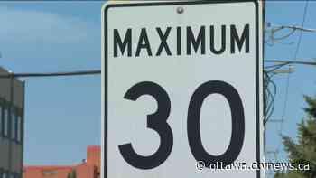 Committee votes to lower speed limit to 30 km/h in Vanier, Sandy Hill, Lowertown - CTV News Ottawa