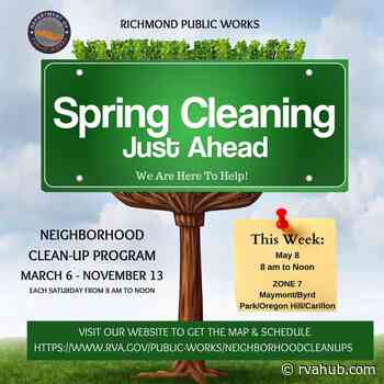 Get involved in a city-led neighborhood cleanup this Saturday in Maymont, Byrd Park, Oregon Hill, and The Carillon - rvahub.com