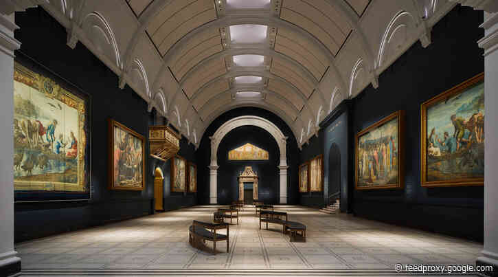 A moody makeover for the V&A's Raphael Court