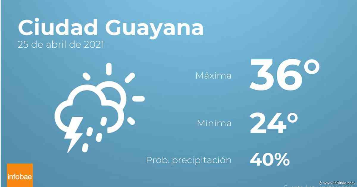 Previsión meteorológica: El tiempo hoy en Ciudad Guayana, 25 de abril - Infobae.com
