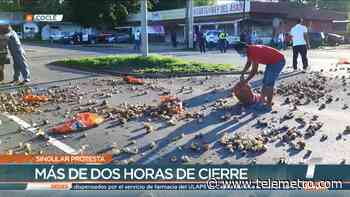 Cebolleros en Natá protestan y cierran calles - Telemetro