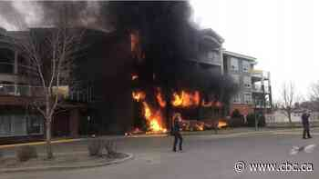 3 people hospitalized after massive fire engulfs St. Albert seniors' residence