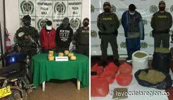 Autoridades reportan dos incautaciones de marihuana en Isnos y El Pital - Huila