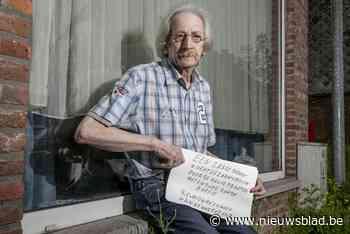 """Julien (67) plaatst hartverscheurend bordje aan venster: """"Ee... (Heist-op-den-Berg) - Het Nieuwsblad"""