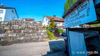Dauerzoff um ein rechtswidriges Bauwerk: Seit zehn Jahren wird um die Mauer von Albershausen gestritten - SWP