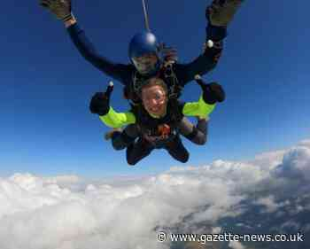 Colchester singer's leap of love out of a plane to support SANDS charity