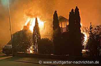 Hoher Schaden in Eppingen - Brand eines Wohnmobils greift auf Wohnhaus über - Stuttgarter Nachrichten