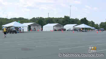 Cal Ripken Jr. Pushes COVID Vaccinations During Aberdeen Stadium Tour With Gov. Hogan - CBS Baltimore