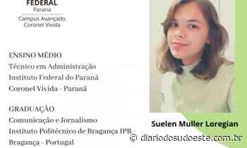 Egressa do IFPR de Coronel Vivida é classificada para estudar em Portugal - Diário do Sudoeste