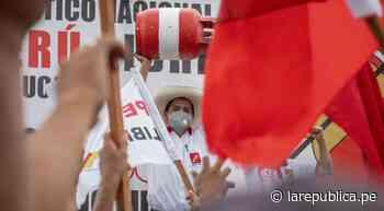 Pedro Castillo recibe multitudinaria acogida en su paso por Pucallpa - LaRepública.pe