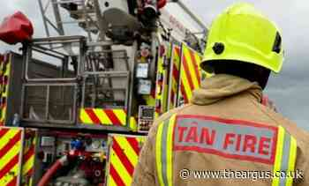 Emergency services called to car fire on A259